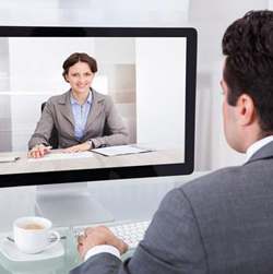 <strong>SPEAK</strong><br  /> with your lawyer by video conference.