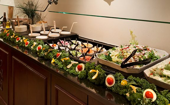 buffet with salad options
