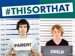 mugshot of a parent and a child