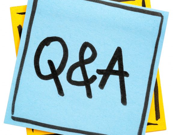 q&a post it notes