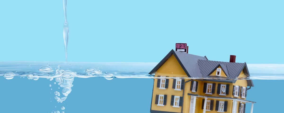 house floating in water