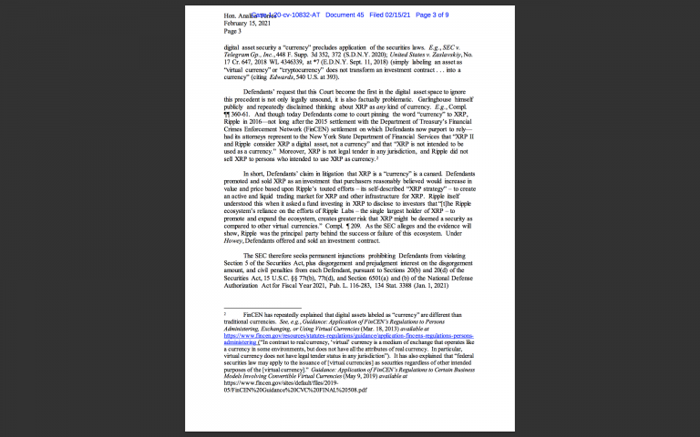 SEC vs. Ripple: Case Management Letter   Hogan & Hogan Law ...